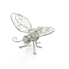 AGED METAL BEE WALL ART FOR HOME OR GARDEN LOVELY ANTIQUE FINISH BEE