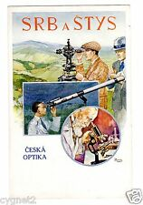 POSTCARD CZECH OPTICAL INSTRUMENTS SRB A STYS ADVERTISING SIGNED RENA