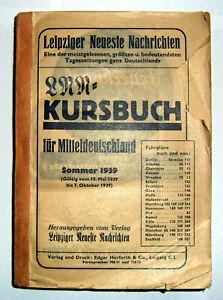 LNN-Kursbuch für Mitteldeutschland Sommer 1939 Eisenbahn-Fahrplan Reichsbahn