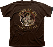 Kenpo Karate Brown Dragon martial arts white cotton t-shirt teecafe 0967