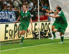 JOHN O'SHEA Signed Autographed 8x10 Photo Ireland National Soccer Team