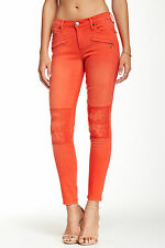 NEW TRUE RELIGION JEANS $278 MIDRISE SUPER SKINNY HALLE BIKER IN SUNSET SZ 29