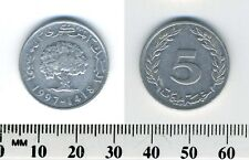 Tunisia 1997 - 5 Millim Aluminum Coin - Oak tree and date