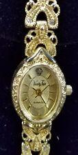 Vanity Fair Gold Tone w/ Rhinestones Ladies Watch -Bracelet Band -Japan Mov't