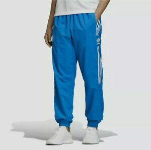 Adidas Originals Woven Lock Up Track Pants Joggers Bluebird Size Small ED6098