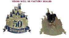 Disneyland 50th Golden Anniversary Castle Pin VIP DLR Disney Factory Sealed