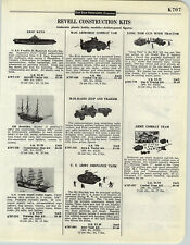 1958 PAPER AD 3 PG Revell Toy Scale Model Kits Long Tom Gun Airplanes Bombers