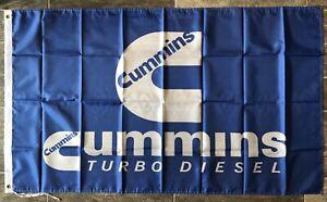 Cummins Turbo Diesel Engine Banner 3x5 Ft Racing Flag Garage Shop Wall Decor