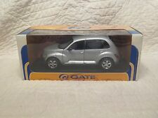 Vintage NIB Gate 2001 Chrysler PT Cruiser  Die-Cast 1:18 Toy Car  Silver