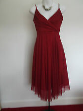 VILA Clothes RED FLOATY PARTY/CRUISE/EVENING/ UNI BALL Dress XS