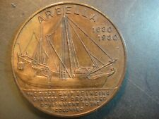 "1930 Port of Salem, Ma. Bronze Medal. Ship ""Arbella"" c.1630."