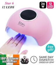 36W UV/LED Nail Lamp LCD 12LED 3Timer Quick Curing Polygel Gel Nail Dryer STAR-6