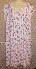 Large L EILEEN WEST NIGHT GOWN Cotton/Modal Short Sleeve Waltz Hydrangea Floral