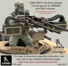 Live Resin 1:35 US Army Special Forces Gunner Bearded Figure Kit #LRM35011