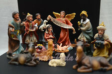 Christmas Nativity Scene Set Figures Polyresin Figurines Baby Jesus-13-PIECE SET
