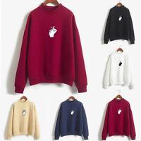 Stylish Women Long Sleeve Hoodie Pullover Sweatshirt Ladies Jumper T-Shirt Tops