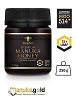 Aktiver Manuka Honig 500+ BeeNZ | aus Neuseeland | MGO514 mg/kg | UMF™15+ | 250g