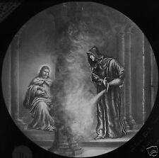 Glass Magic Lantern Slide THE GIL ON THE FIRE C1890 JESUS RELIGION