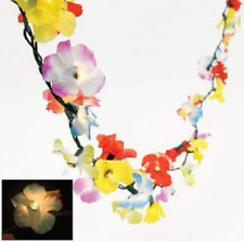 Light Up Flower Lei Garland 9 ft Luau Decoration