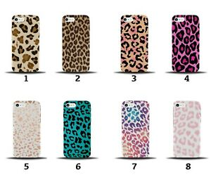 Leopard Print Phone Case Cover Skin Dots Hot Pink Green Rainbow Colourful 8164