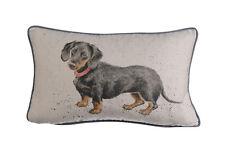 Wrendale Designs Oblong Cushion Hugo Daschund Dog Feather Cushions NEW