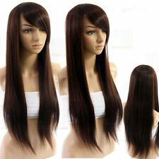 FIXSF313 sexy long dark brown straight hair wigs for health natural women wig