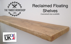 Wooden Shelving Rustic Solid Floating Shelf Shelves Mantel Handmade - Reclaimed