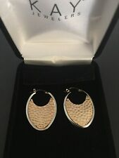 14kt Yellow/white gold unique designed earrings from kay jeweler's Retail $399