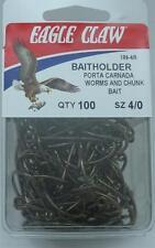 Eagle Claw 186 #4/0 100Ct Bronze Baitholder Hook 100Ct 6856