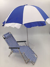 1/6 Sun Umbrella Deck Chair Funiture for Barbie Fahion Royalty Silkstone Doll