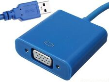 USB to VGA  Cable Adapter with Driver For Win 7 8 XP Multiple Monitor Display