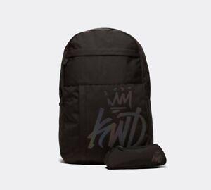 Kings Will Dream KWD New Backpack School Bag Rucksack Pencil Case Black Maxwell