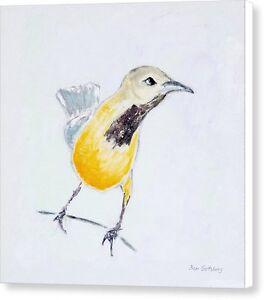 Bullock's Oriole 1 12x12 Original Art Acrylic Bird Painting on Stretched Canvas