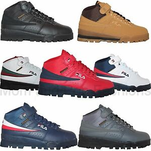 Mens Fila F13 F-13 Mid High Top Weather Tech Sneaker Boots Shoes Wheat Black