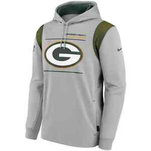 Brand New 2021 Green Bay Packers Nike Sideline Logo Performance Pullover Hoodie