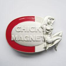Chick Magnet Girl Metal Belt Buckle