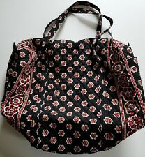 Vera Bradley Black and  Red Pirouette Large Duffle