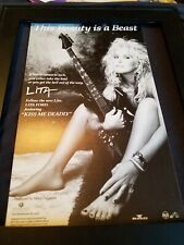 Lita Ford Kiss Me Deadly Rare Original Radio Promo Poster Ad Framed!