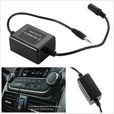 Black 3.5mm AUX Car Truck Audio Noise Filter Loop Isolator Eliminate 13cm Cable