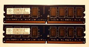Mémoire Nanya 2 Go X 2 => 4 Go / Gb DDR2 800 PC2 6400 NON ECC