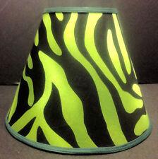 Green Zebra Print Lampshade Handmade Lamp Shade
