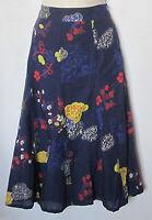New  White Stuff blue floral mountain flower flippy skirt size 8 -12