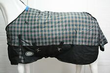 AXIOM 1800D BALLISTIC TARTAN/BLK PADDOCK LIGHT/NO FILL HORSE RUG - 5' 9