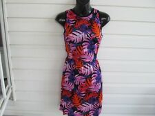 DOLCE VITA Tropical Print Tie Back SILK/SPANDEX Dress sz M NWT $220.00