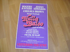 HULLA BALOO  Sort of Revue feat Jimmy Edwards  CRITERION Theatre Original Poster