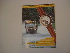 advertising Pubblicità 1990 CAMEL TROPHY WATCH