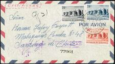 2555 Venezuela To Chile Registered Air Mail Cover 1956 Medicine Hospital Stamps