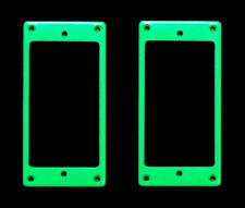 Guitar Parts Humbucker Pickup MOUNTING RINGS Trim Bezels - Set of 2 - GREEN