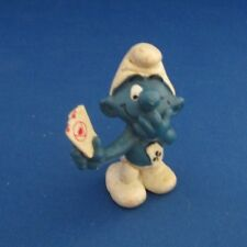 Smurfs 20056 Card Player Smurf Vintage Schleich Figure Pvc 1979 Poker Casino