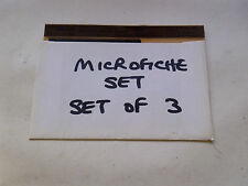 JAGUAR XJ12 SERIES 3 RTC9886FV ORIGINAL MICROFICHE SET OF 3 JULY 1984 (NJ895)